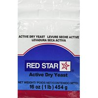 Lesaffre Red Star Bakers Active Dry Yeast 1 lb. Vacuum Pack