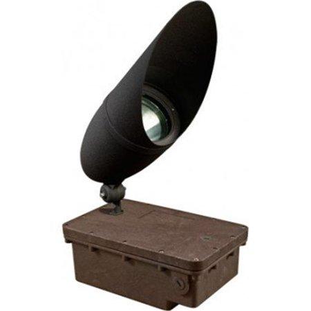 Dabmar Lighting FG-DPR41H-B-70MH 120V In-Ground Ballast Box with Black HD Bullet & PAR38 Lamp