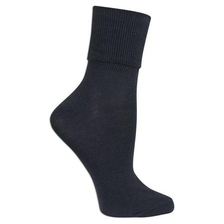 fa7384c732444 No Boundaries - Women's Turn Cuff Socks 3 Pack - Walmart.com