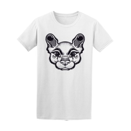Hand Draw Cat Face  Tee Men's -Image by - Draw A Halloween Cat Face
