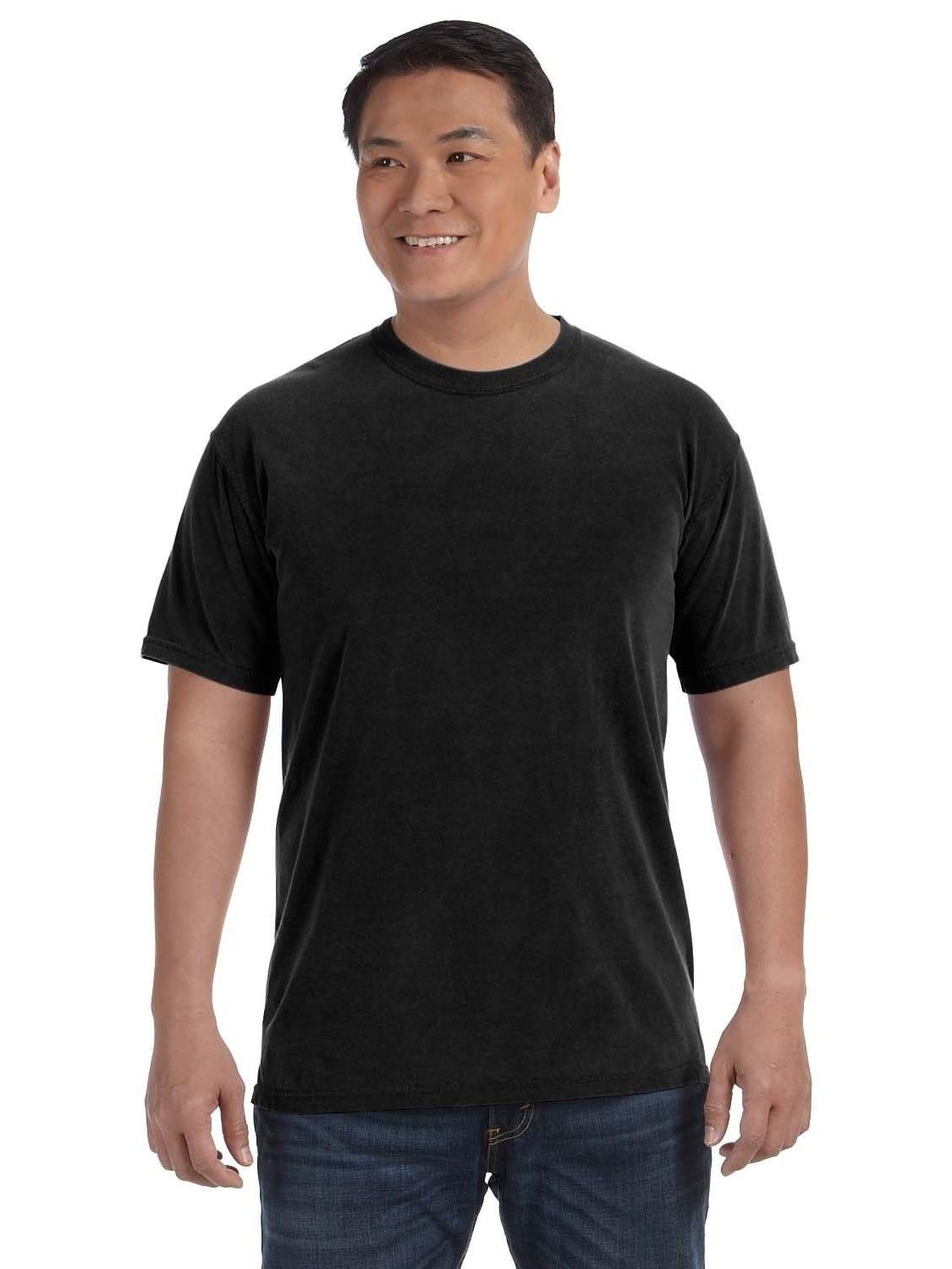 Comfort Colors  Men's Black Ringspun Cotton Garment-dyed Undershirt (Super Value Pack of 12)