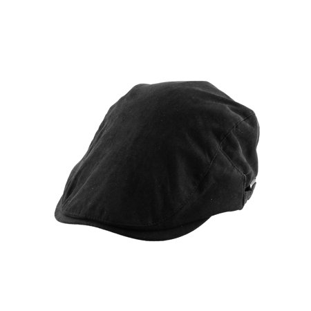 Men Women Newsboy Ivy Cap Sun Protection Driving Casual Flat Beret Hat - Black Cabbie Hat