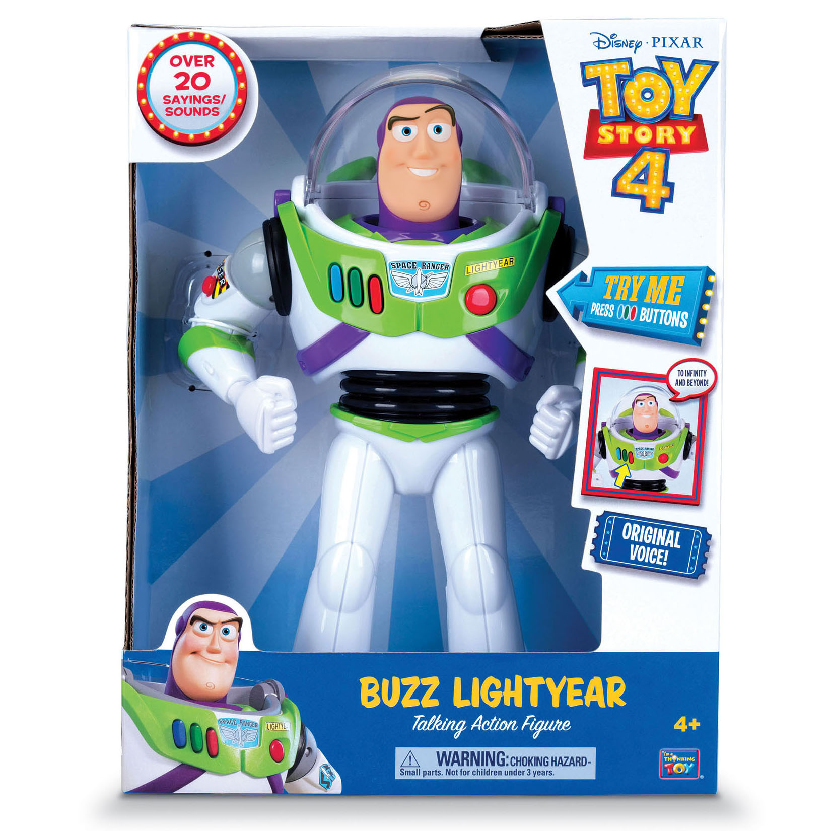 Disney Collection Toy Story 4 Buzz Lightyear Talking Action Figure