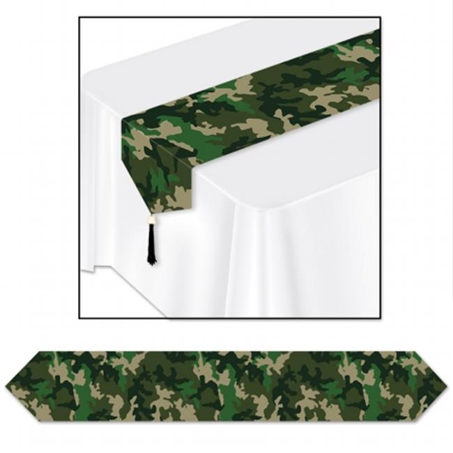 Beistle Company 59848 Printed Camo Table Runner