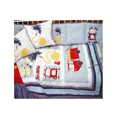 Patch Magic Fire Truck Crib Quilt