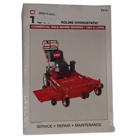 Service Manual Clymer P210 Toro Proline Hydrostatic Walk Behind (Lesco 48 Walk Behind Mower Parts Manual)