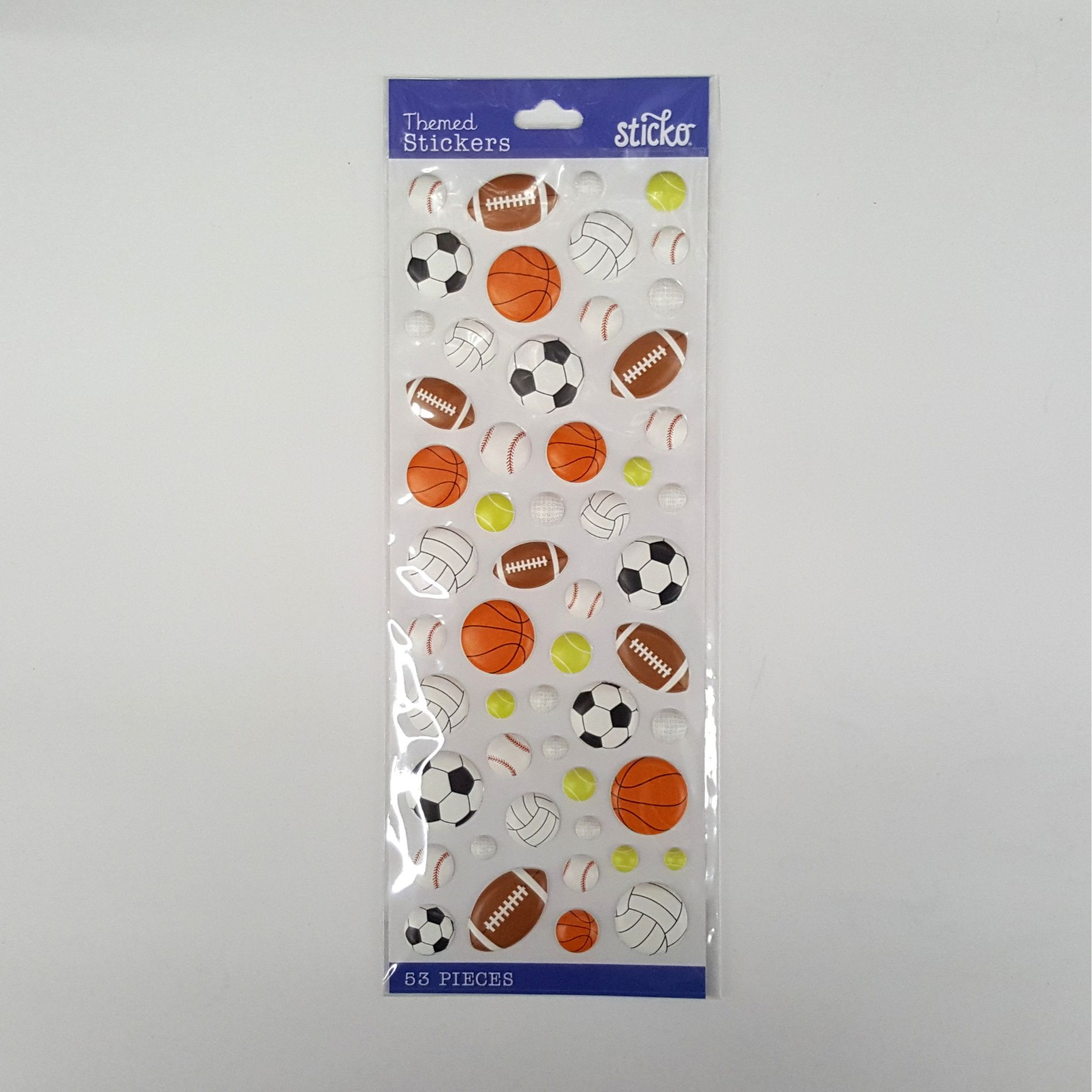 Wilton Puffy Sports Balls Classic Sticker