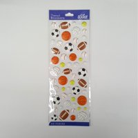 Wilton Classic Puffy Sports balls Stickers, 53 Piece