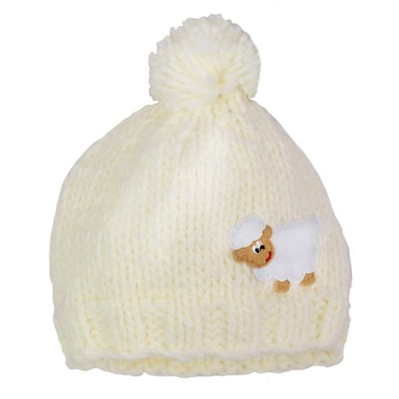 Cream Sheep Kids Knit Hat](Sheep Hat)