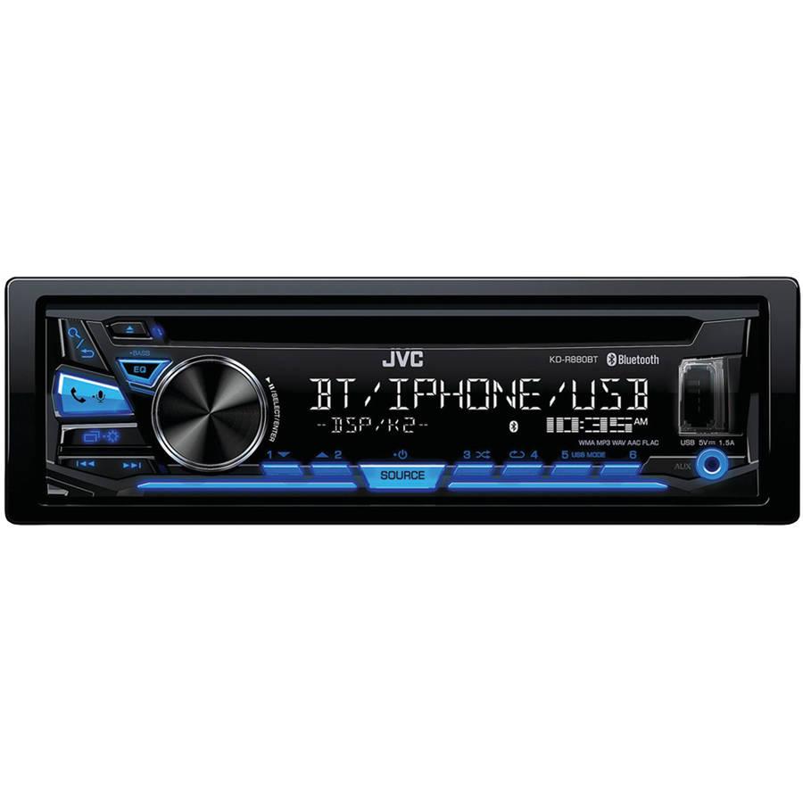 JVCM KD-R880BT Single-DIN In-Dash AM/FM CD Receiver with Bluetooth