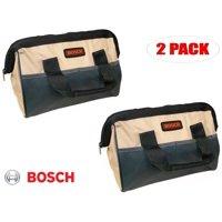 "Bosch 11"" x 7"" x 6"" Heavy Duty Contractors Tool Bag # 2610922842 (2 Pack)"