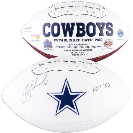 Troy Aikman Dallas Cowboys Autographed White Panel Football with HOF 06 Inscription - Fanatics Authentic -