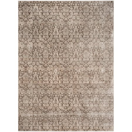 """Safavieh Vintage 4' X 5'7"""" Power Loomed Rug in Brown and Creme - image 5 de 6"""