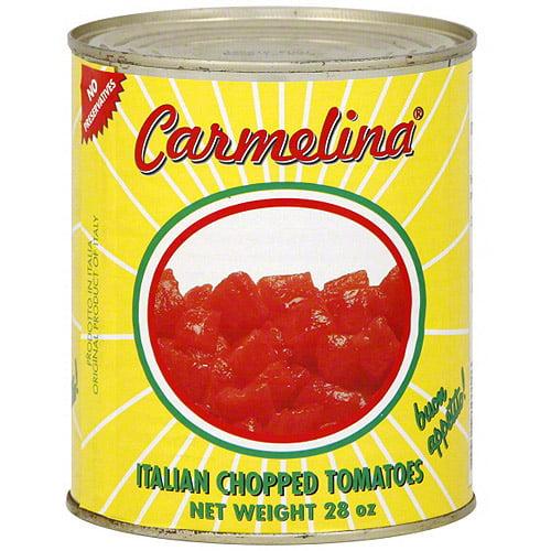 Carmelina Italian Chopped Tomatoes, 28 oz (Pack of 12)