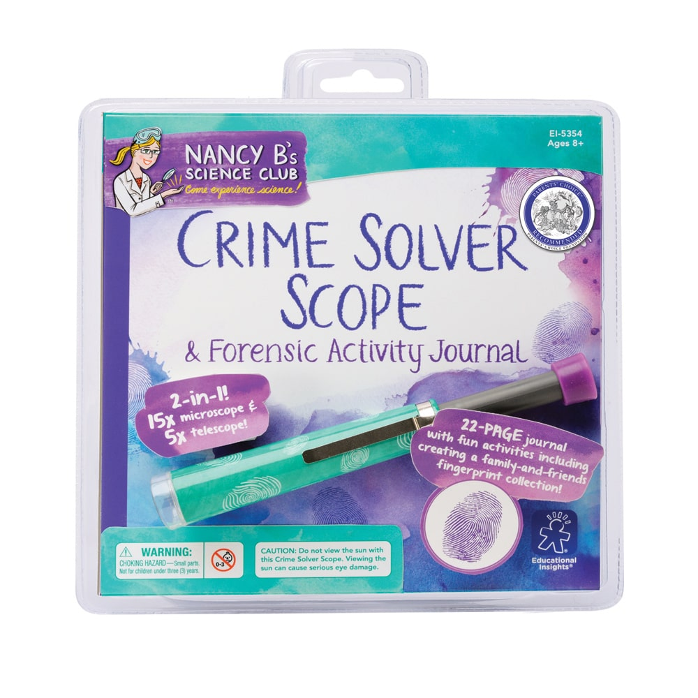 Educational Insights Nancy B's Science Club Crime Solver Scope & Forensic Activity Journal