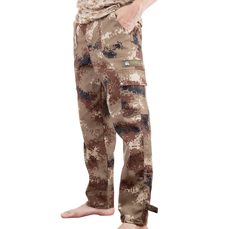 Men Digital Camo BDU Pant Desert Camo Cargo Pants With Pockets Outwear ()