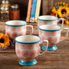 The Pioneer Woman Flea Market Happiness 15 oz Decorated Mugs, Set of 4