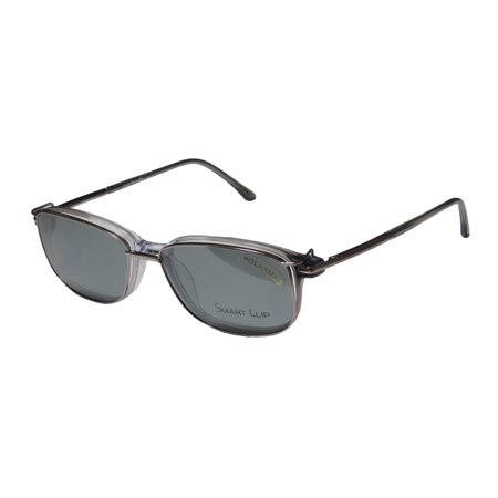 New SmartClip 922 Mens/Womens Designer Full-Rim Grey / Clear Frame ...