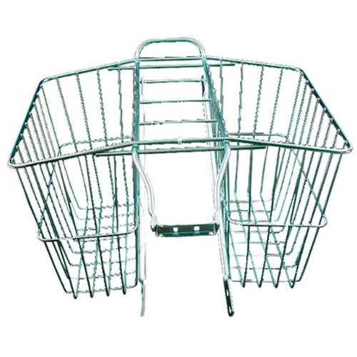 Wald Medium Twin Rear Mounted Bike Basket - Silver - #520