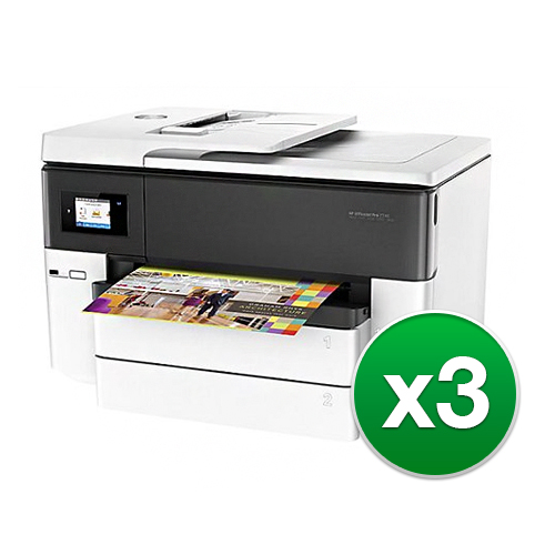 """HP Officejet Pro 7740 AIO Printer G5J38AB1H (3-Pack) Officejet Pro 7740 AIO Printer"" by HP"