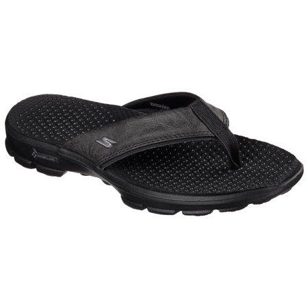 discount up to 60% footwear designer fashion Skechers 54250 BBK Men's GOWALK 3-STAG Sandal