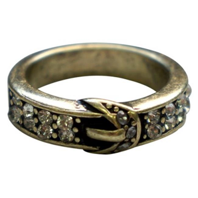C Jewelry Gold Buckle Ring, Size 7
