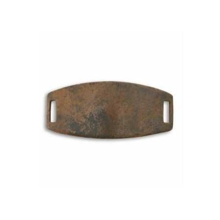 Vintaj Natural Brass Blank Curved Rectangle Connector Panel For Bracelet 45mm (1)