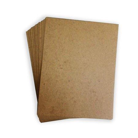 "Chipboard - Cardboard Medium Weight. 8 1⁄2 x 11"" Chipboard Pads - .022"" Thick (100 Per Pack)"