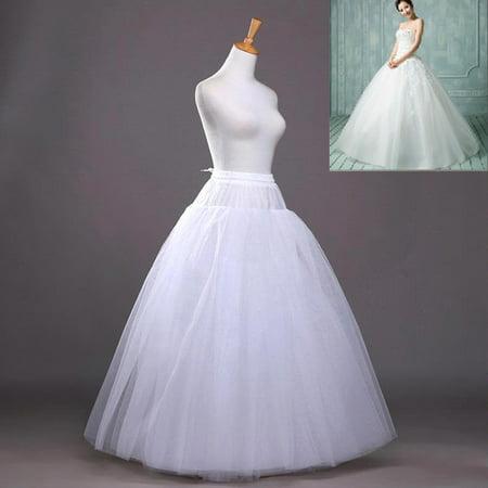☆8-Layers Beauty Bridal Petticoat Crinoline Long Wedding Dress Underskirt White