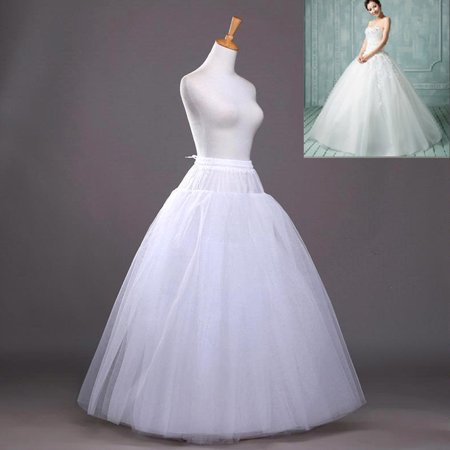 ☆8-Layers Beauty Bridal Petticoat Crinoline Long Wedding Dress Underskirt White](Petticoat Dress)