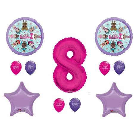 LOL Surprise Doll 8th Birthday Party Balloons Decoration Supplies