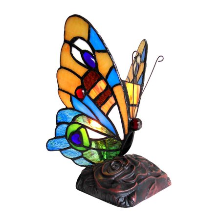 Tiffany Style Accent (Chloe  Tiffany Style Butterfly Design 1-light Accent Lamp )