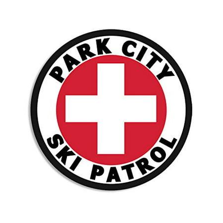 Round PARK CITY SKI PATROL Sticker (UT Utah snow)