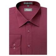 Giovanni CLG1009-15 1-2x34-35 Mens Solid Color Dress Shirt, Burgundy
