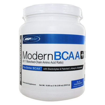 USP Labs - Modern BCAA+ Powder Ultra Micronized Amino Acid Supplement Blue Raspberry - 18.89 - Use Labs
