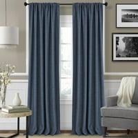 Elrene Home Fashions Pennington Solid Sheer Rod Pocket Curtain Panels (Set of 2)