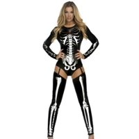 Forplay Snazzy Skeleton Costume 554640 Black/Silver