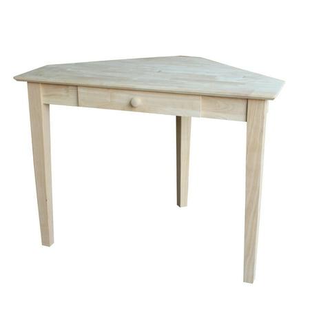 Unfinished White Oak Tread (International Concepts 1-Drawer Corner Computer Desk, Unfinished)