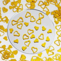 Gold Metallic Foil Heart Confetti For Wedding Party Decoration 300pcs/pk 2PK