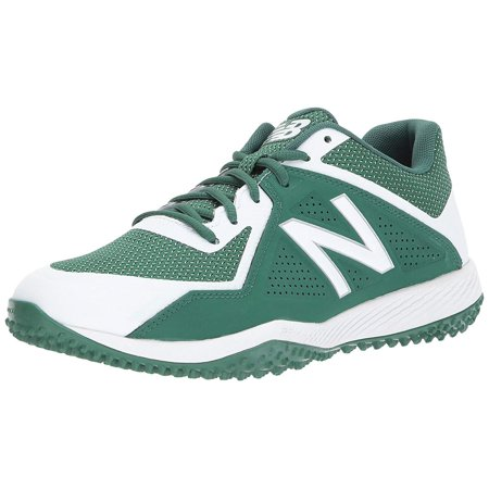 New Balance Men's T4040v4 Turf Baseball Shoe, Green/White, 11 D