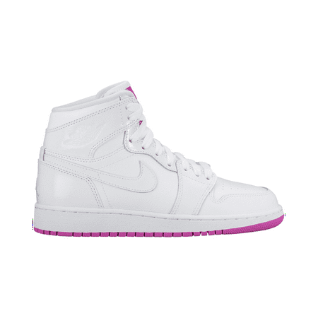 Jordan - Nike 555112-100   Air Jordan 1 Mid Girls  Grade School Basketball  Shoes (5 M US Big Kid 8d5f646f7