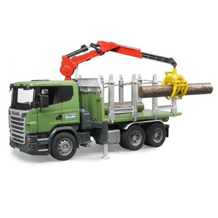 Scania R-Series Timber Truck with Crane - Vehicle Toy by Bruder Trucks (03524)