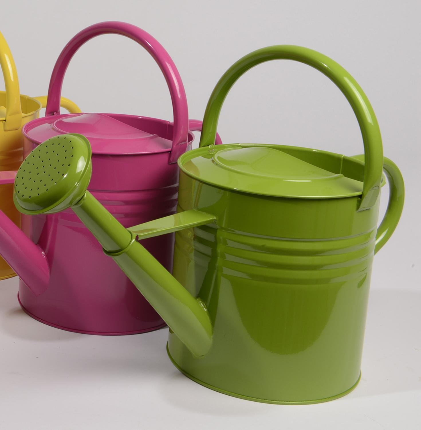 "15"" L'Eau de Fleur Green Outdoor Garden Patio Watering Can - 10 Liter"