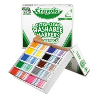 Crayola Classpack Washable Broad Point Markers, 8 Colors, 200 Count
