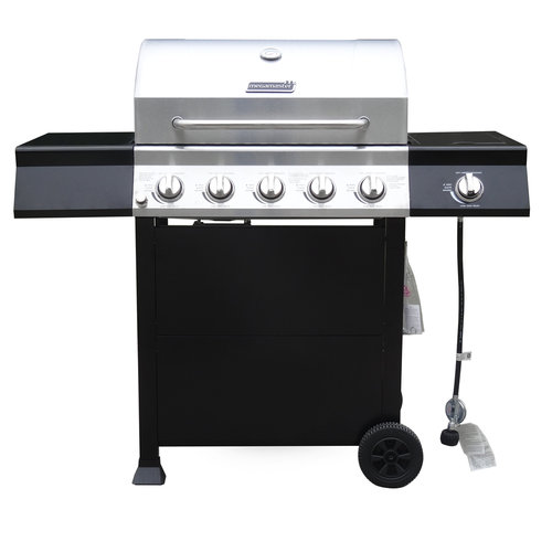 "28"" 5-Burner Gas Grill with Side Burner"