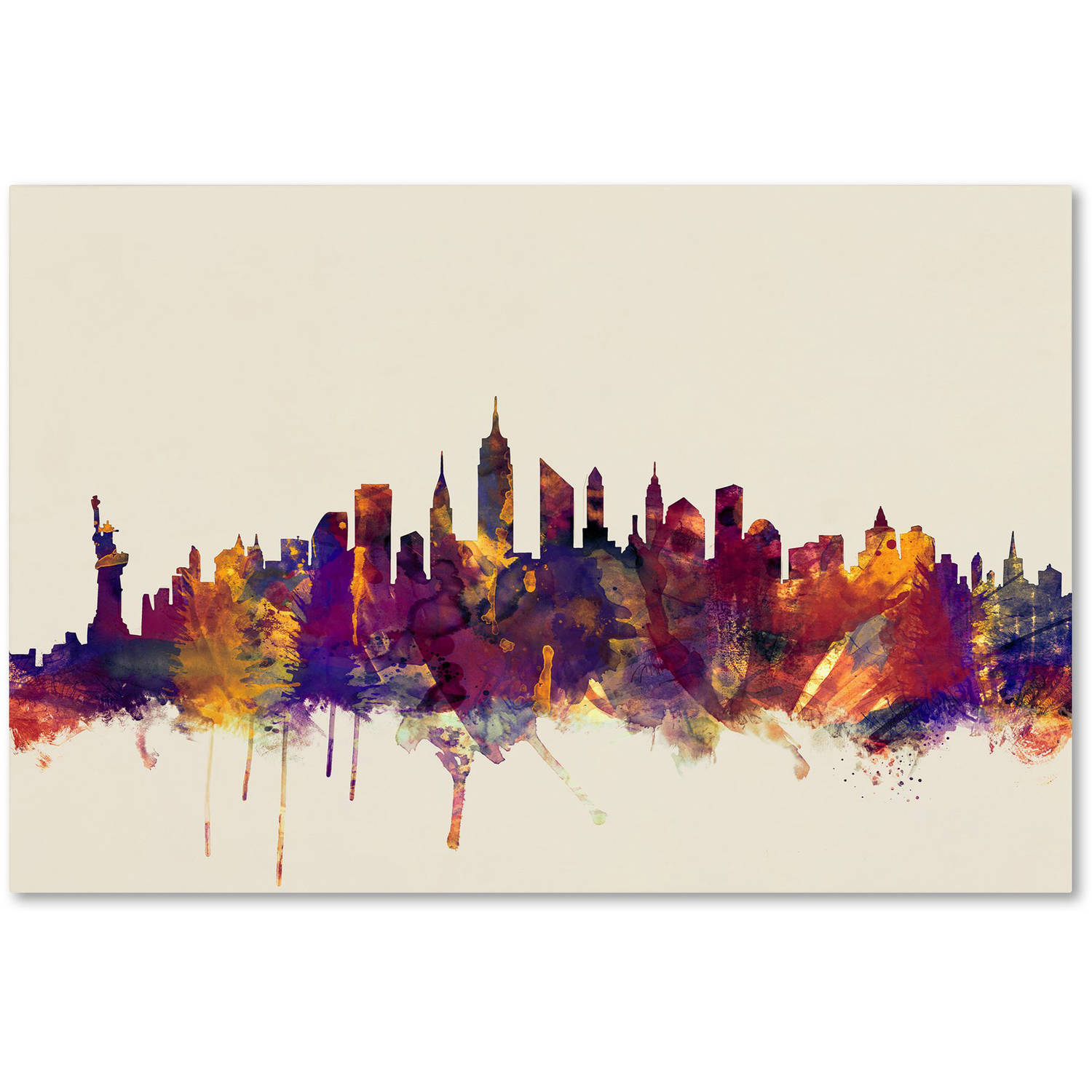 "Trademark Fine Art ""New York City Skyline"" Canvas Art by Michael Tompsett"
