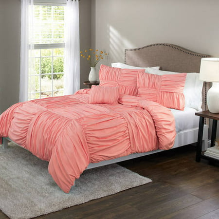 Garden Duvet Set - Better Homes and Gardens Basketweave Ruched Duvet Set, Or