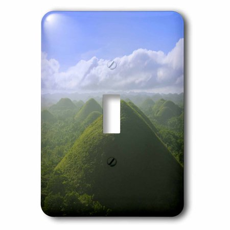 3dRose Chocolate Hills of Bohol Island, Philippines - AS29 KSU0026 - Keren Su, 2 Plug Outlet Cover