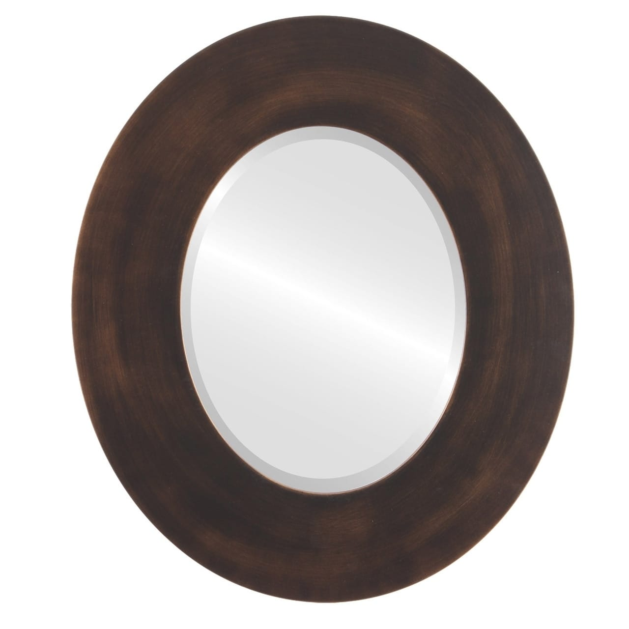 The Oval and Round Mirror Store Tribeca Rubbed Antique Bronze Wood Framed Oval Mirror by Overstock