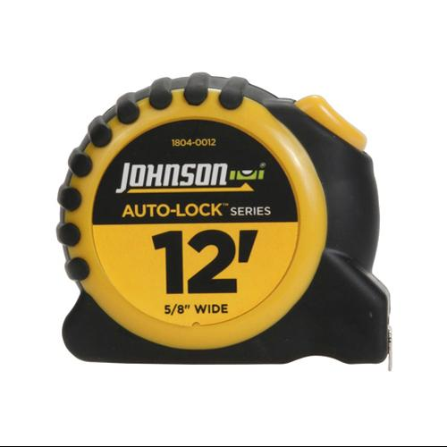 JOHNSON LEVEL & TOOL Auto-Lock Power Tape Measure, Rubberized Case, 5/8-In. x 12-Ft.
